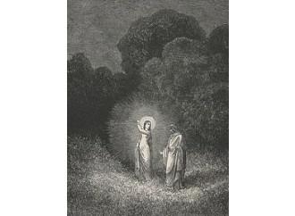 Dopo l'addio di Virgilio, Dante incontra Beatrice