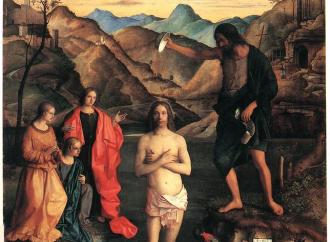 Il Battesimo di Gesù, lo Spirito scende come una colomba