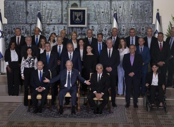 Il nuovo governo israeliano, foto di gruppo