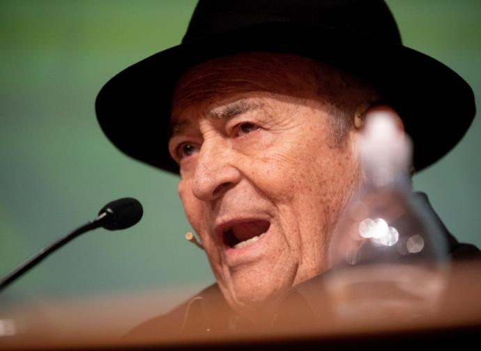 Bernardo Bertolucci, in una delle sue ultime apparizioni in pubblico