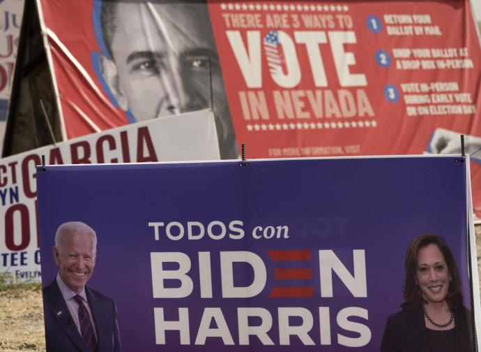 Poster elettorale di Biden-Harris (e Obama)
