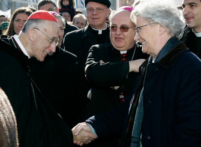 Paola Binetti con il cardinale Ruini