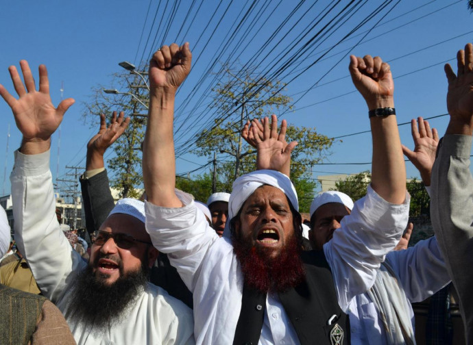 Manifestazioni a Lahore contro Asia Bibi