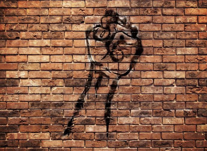Uno dei graffiti di BLM