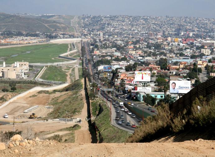 Un tratto del confine Usa-Messico