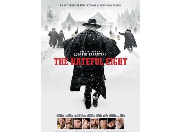 La locandina del film The hateful eight