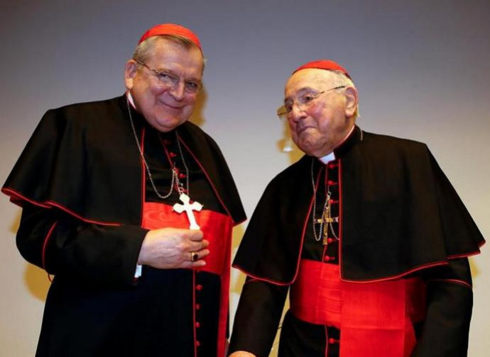 I cardinali Burke e Brandmüller