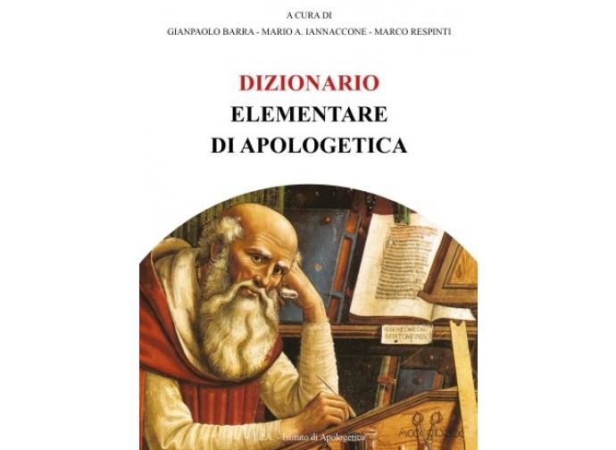 La copertina del Dizionario elementare di apologetica