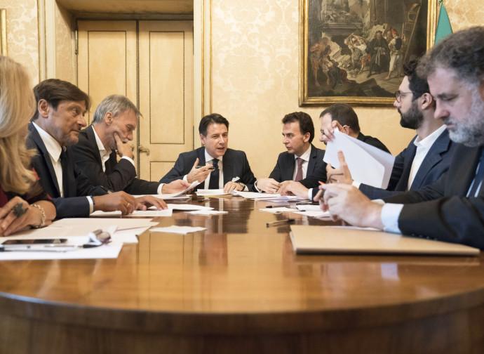 Riunione dei capigruppo dei partiti di governo (M5S, PD e Leu)