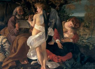 Il riposo durante la fuga in Egitto, secondo Caravaggio