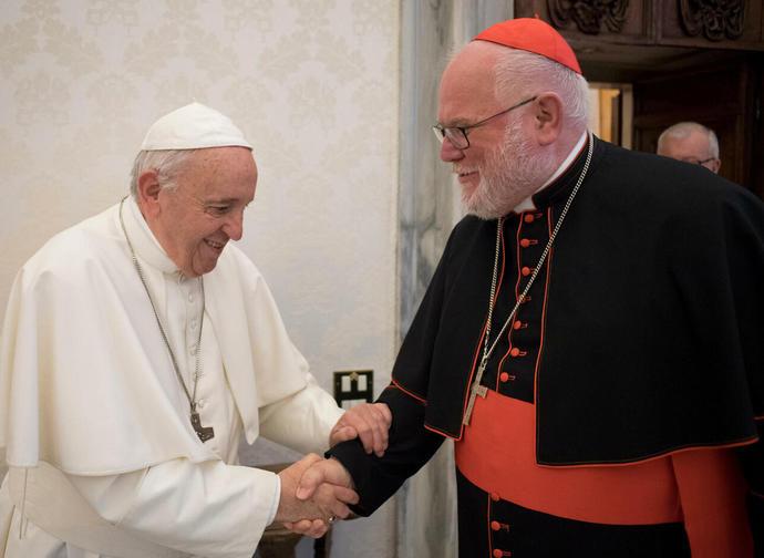 Il cardinale Marx ricevuto dal Papa