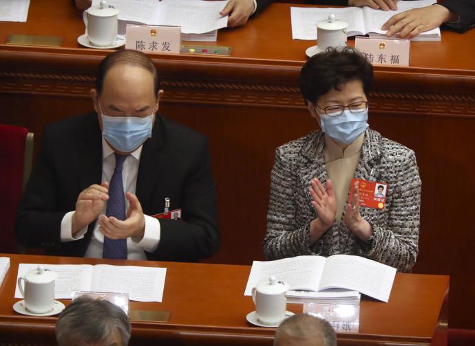 Carrie Lam all'Assemblea Nazionale del Popolo (Pechino)