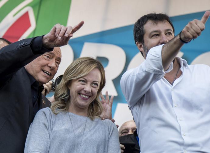 Berlusconi, Meloni, Salvini