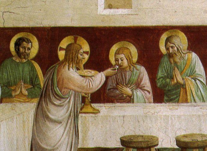 Il Cenacolo, Beato Angelico (part.)