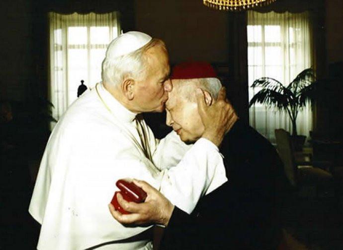 Giovanni Paolo II con il cardinale Kung Pinmei