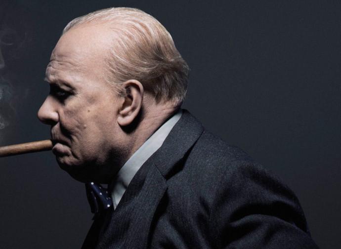 Winston Churchill interpretato da Gary Oldman in The Darkest Hour