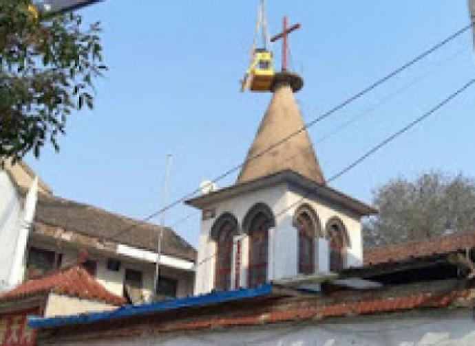 Cina, demolizione della chiesa di Chaocheng