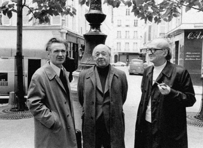 Cioran, Ionesco ed Eliade esuli a Parigi