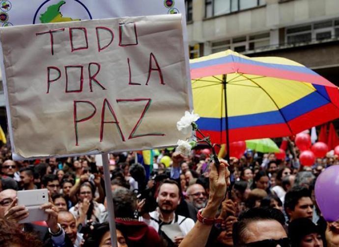 Colombia, manifestazione per la pace