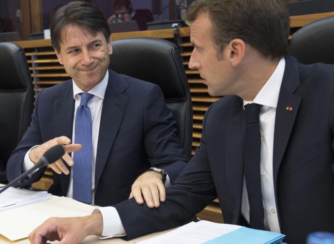 Conte con Macron