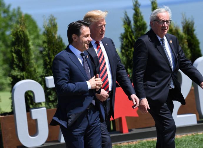 Conte, Trump e Juncker