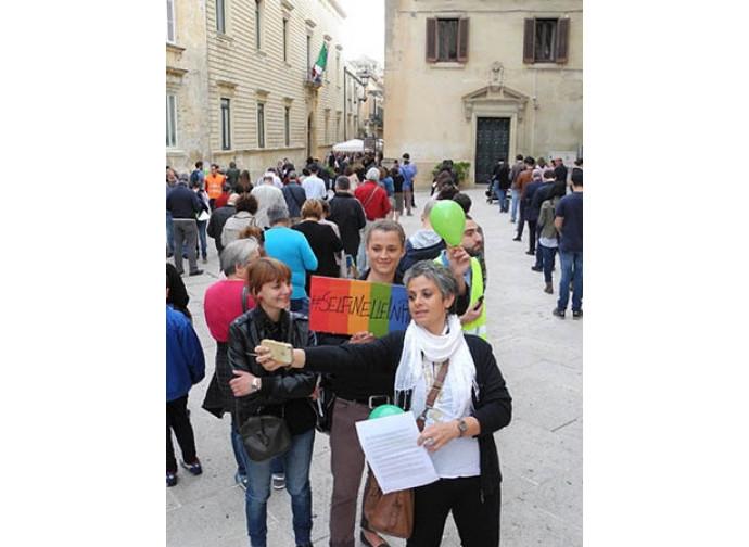 Contromanifestazione a Lecce