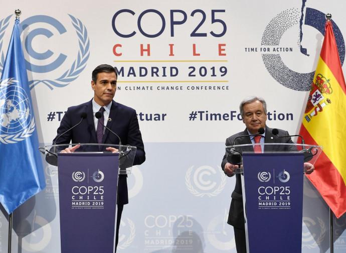 COP25, Sanchez (Spagna) introduce i lavori con Guterres (Onu)