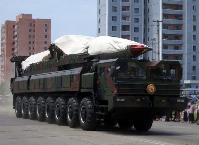 Missile nordcoreano in parata