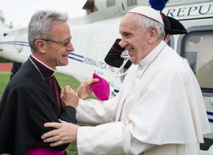 Cavina con Papa Francesco