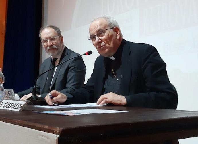 Crepaldi con il direttore della Nuova BQ Riccardo Cascioli