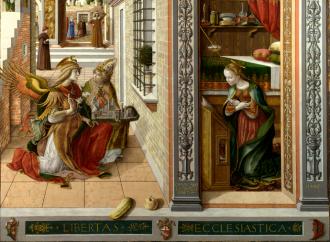 Maria, la prescelta da Dio, nell'Annunciazione di Crivelli