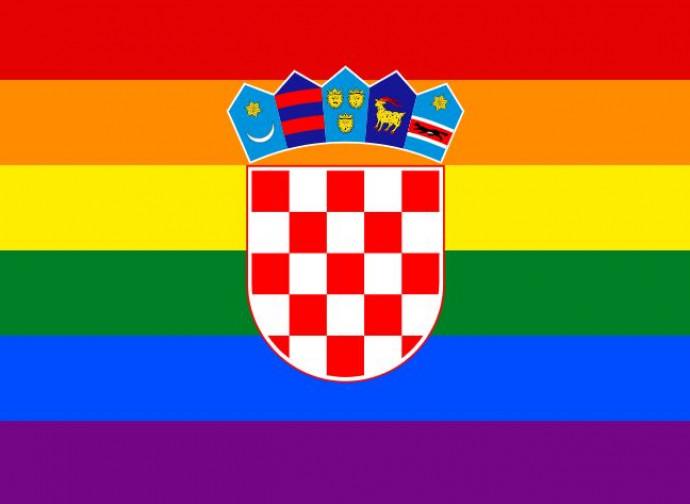 Bandiera gay su quella croata