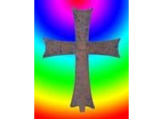 Croce arcobaleno