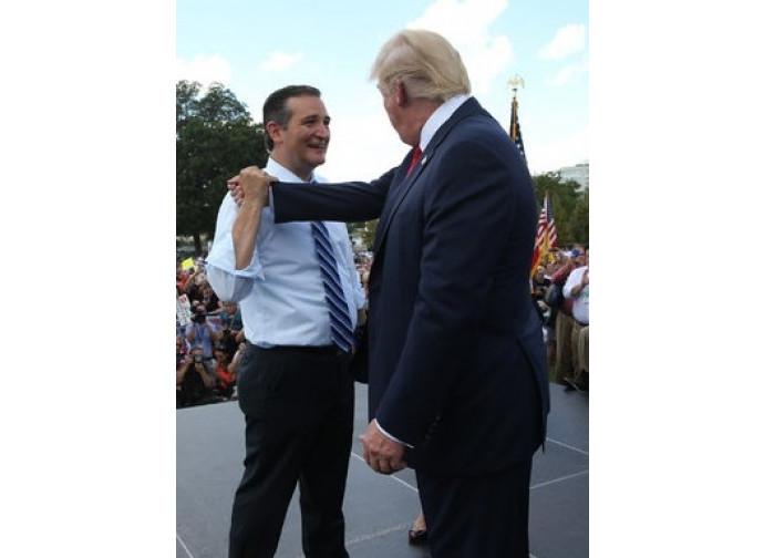 Ted Cruz e Donald Trump