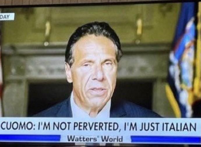 """Cuomo: """"non sono perverso, sono solo italiano"""""""