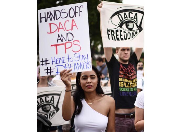 Protesta in difesa della legge DACA
