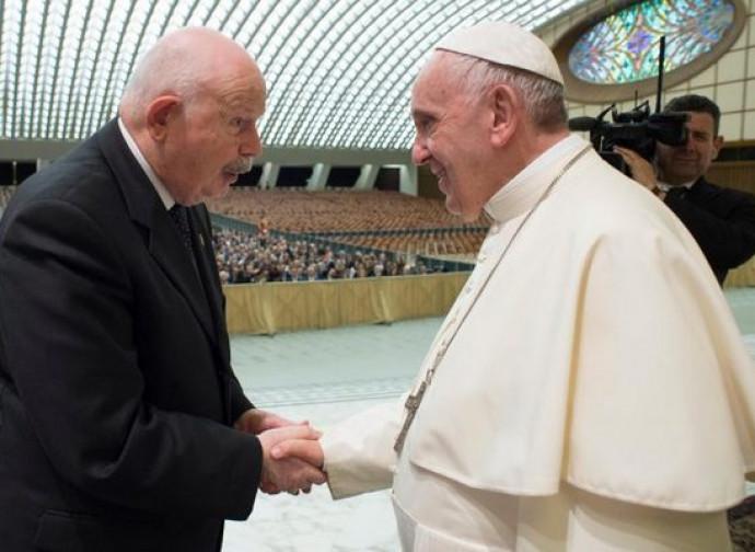 Frà Giacomo Dalla Torre con papa Francesco