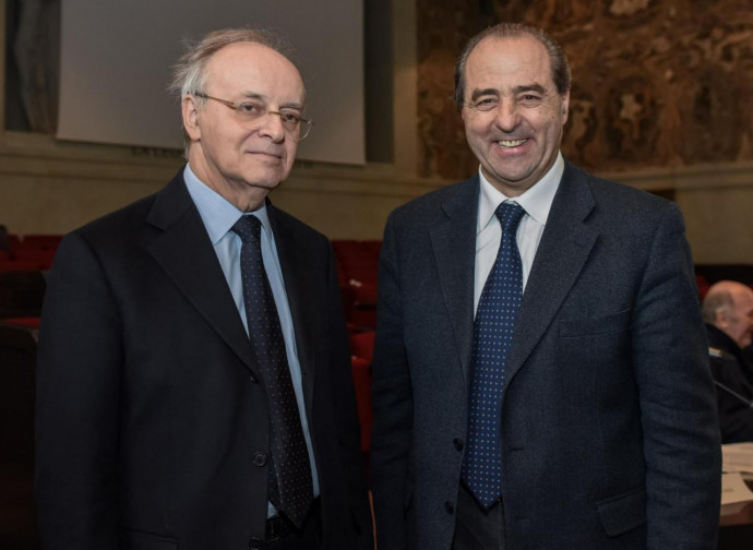 Piercamillo Davigo (a sinistra) con Antonio Di Pietro: gli uomini simbolo di Mani Pulite