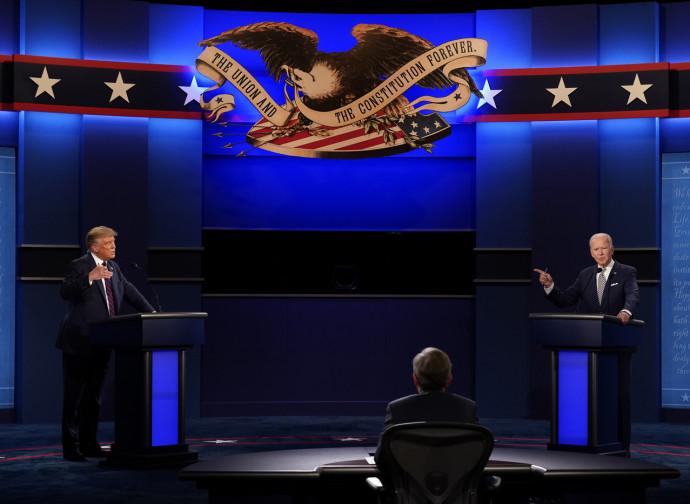 Trump e Biden nel dibattito