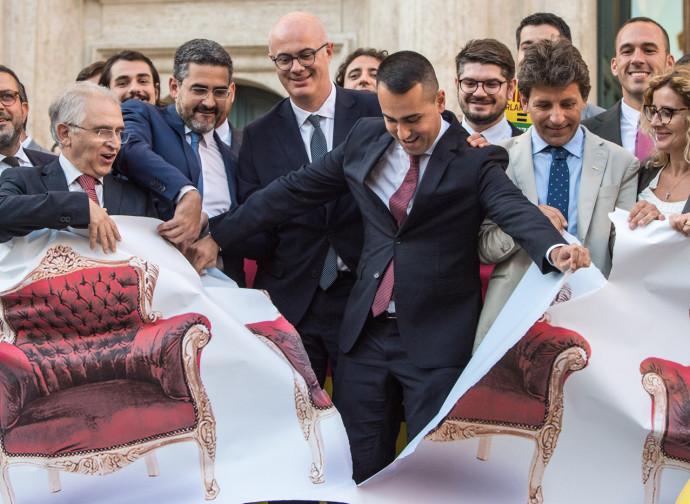 Di Maio celebra il taglio dei parlamentari