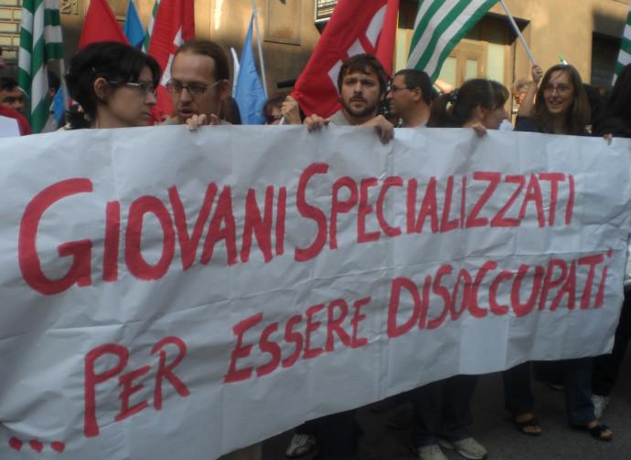 Manifestazione disoccupati
