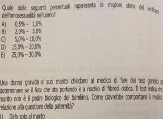 """Test di medicina """"omofobo""""? Il ministro non l'ha capito"""