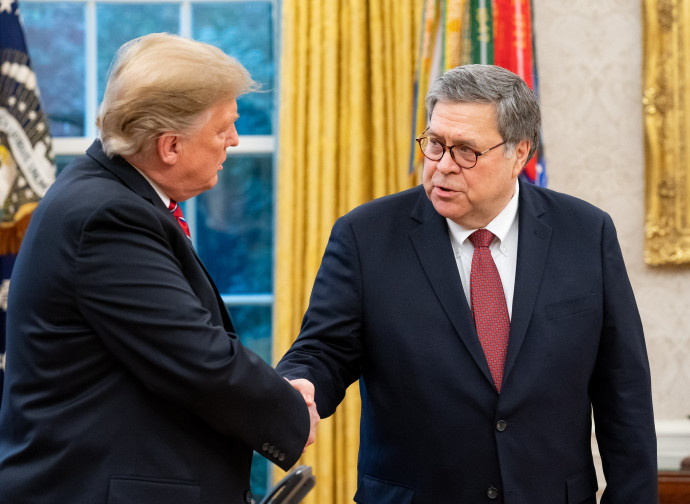 Donald Trump e William Barr