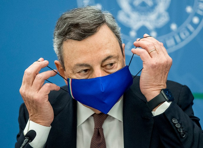 Il presidente del Consiglio Draghi