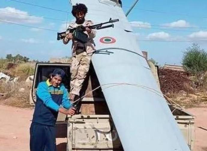 Il drone italiano abbattuto in Libia