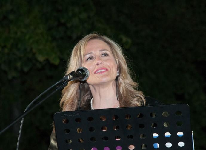 Christy Beam racconta in piazza la sua storia (Foto Codazzi/La Libertà)
