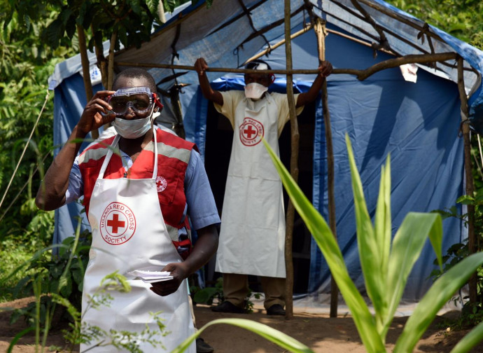 Presidio CRI al confine Congo-Uganda