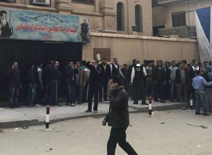 La chiesa copta teatro dell'attentato