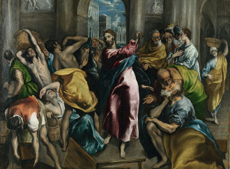 La cacciata dei mercanti, Gesù difende la casa del Padre