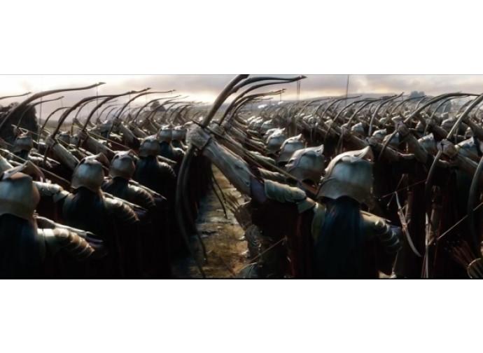 Battaglia dei Cinque Eserciti, arcieri elfici in azione